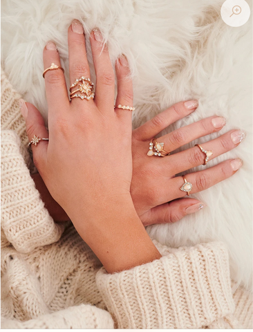 BOHO BABE STACKING RING SET IN GOLD-RINGS-MODE-Couture-Boutique-Womens-Clothing