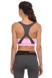 MEET ME IN THE MOUNTAINS RACERBACK SPORTS BRA IN PINK-Athleisure Sports Bra-MODE-Couture-Boutique-Womens-Clothing