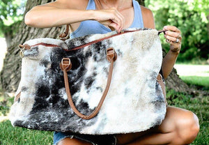 AUSTIN SHERPA WEEKENDER IN CHARCOAL TIE DYE-BAG-MODE-Couture-Boutique-Womens-Clothing