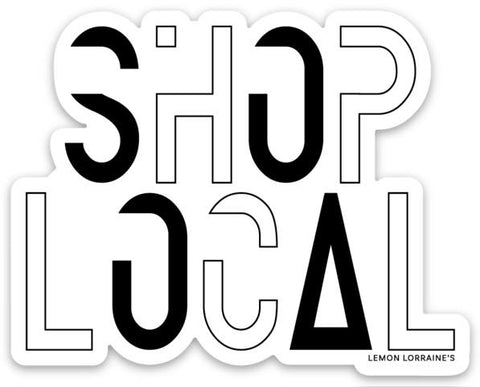 SHOP LOCAL VINYL STICKER DECAL-Sticker/Decal-MODE-Couture-Boutique-Womens-Clothing