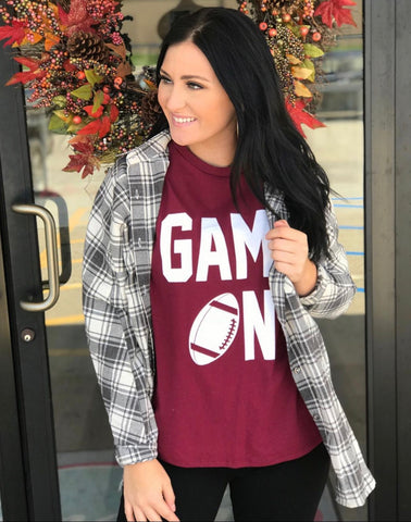 Game On Tee - Burgendy