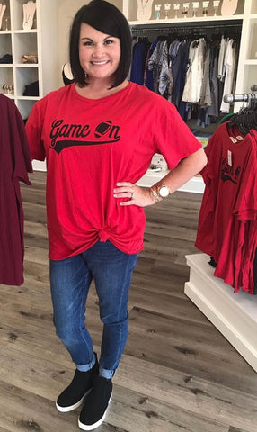 Game On Tee- Red