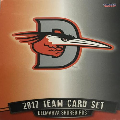 Delmarva Shorebirds 2017 Team Card Set