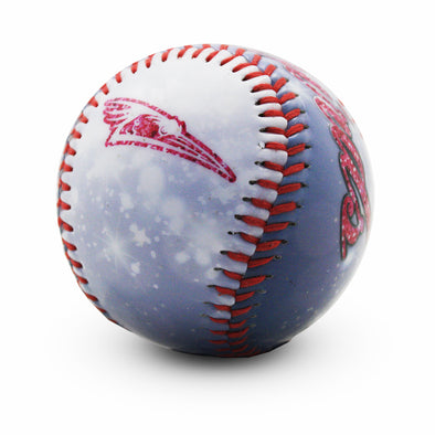 Shorebirds Primary Logo Glitter Baseball
