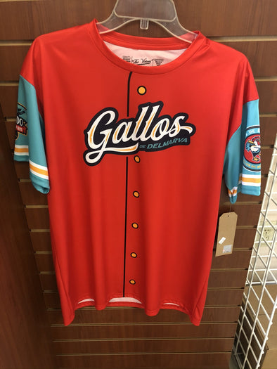 Delmarva Shorebirds Los Gallos de Delmarva Replica Performance Jersey T-Shirt