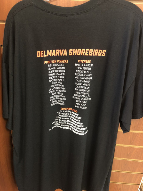 Delmarva Shorebirds Men's 2019 1st Half Champions Commemorative T-Shirt