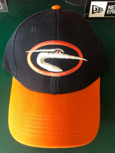 Delmarva Shorebirds Adult Adjustable Classic Logo Cap Black/Orange