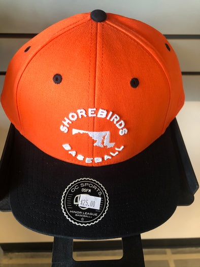 Men's Adjustable Delmarva Shorebirds Maryland Chill Cap - Orange/Black