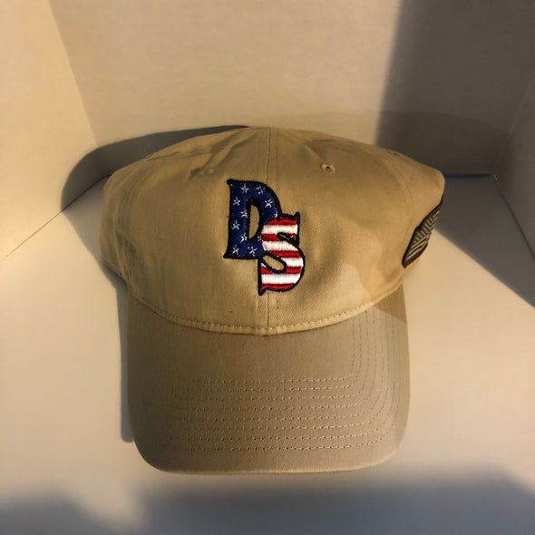 Patriotic Adjustable Hat with American Flag Patch