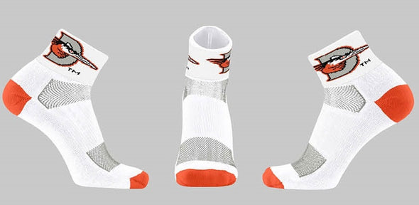 TCK Shorebirds White Ankle Socks