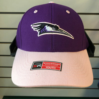 Youth Girls Primary Logo Purple/Pink Adjustable Hat