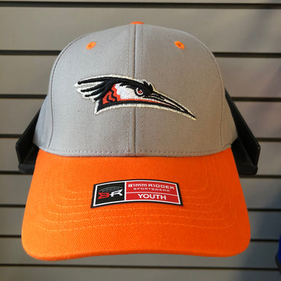 Youth Primary Logo Grey/Orange Adjustable Hat