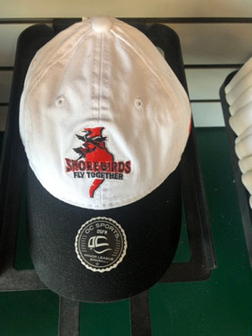 Delmarva Shorebirds Adjustable Fly Together Cap White/Black