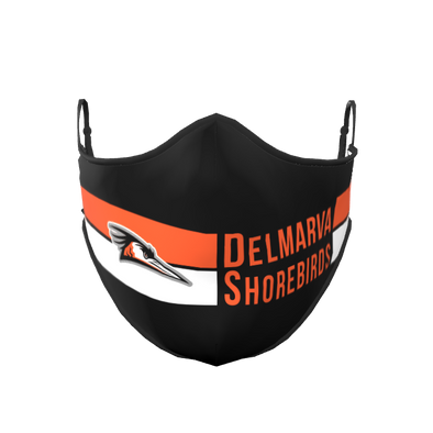 Delmarva Shorebirds Black Face Mask