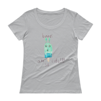 Bunny's are so cute!!! by Suzie | Ladies' Scoopneck T-Shirt