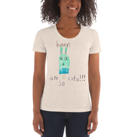 Bunny's are so cute!!! by Suzie | Women's Crew Neck T-shirt
