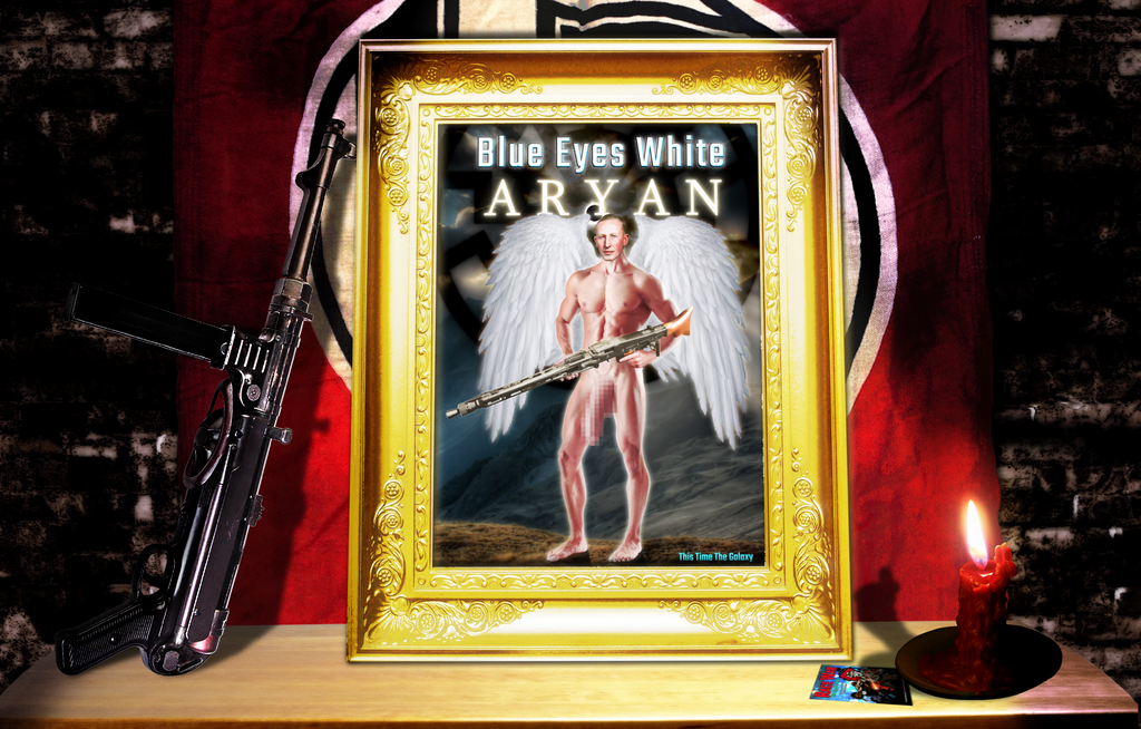 Blue Eyes White Aryan Poster