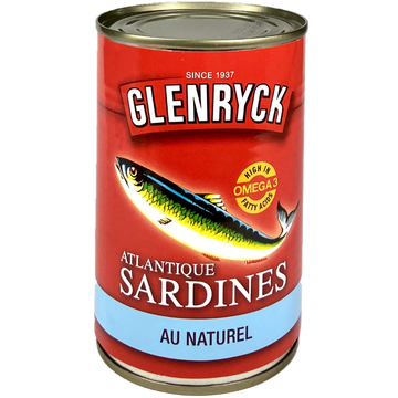Sardines Atlantic au Naturel Glenryck 400g
