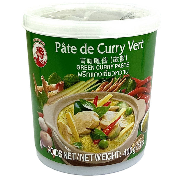 Pate de curry vert, gren curry paste, Coq, cuisine Thaï