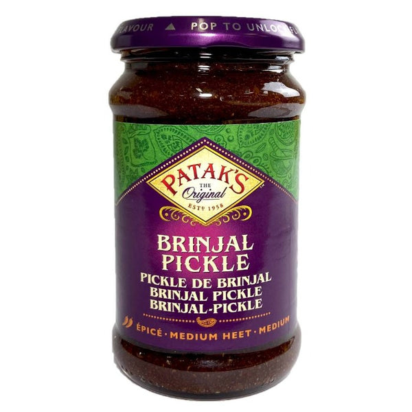 Pickle d'aubergine, brinjal pickle, Pataks, 310 g, Sri-shop.com