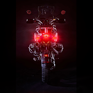 BMW R1200GS Stock Brake Light Activated