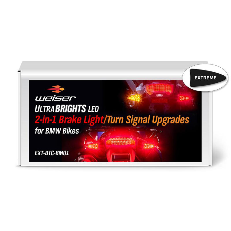 ULTRABRIGHTS LED 2-in-1 Brake Light/Turn Signal Upgrades for newer BMW motorcycles 2006-present (EXT-BTC-BM01) Image 1