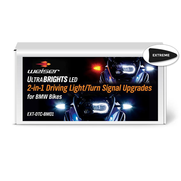 ULTRABRIGHTS LED 2-in-1 Driving Light/Turn Signal Upgrades for newer BMW motorcycles 2006-present (EXT-DTC-BM01) Image 1