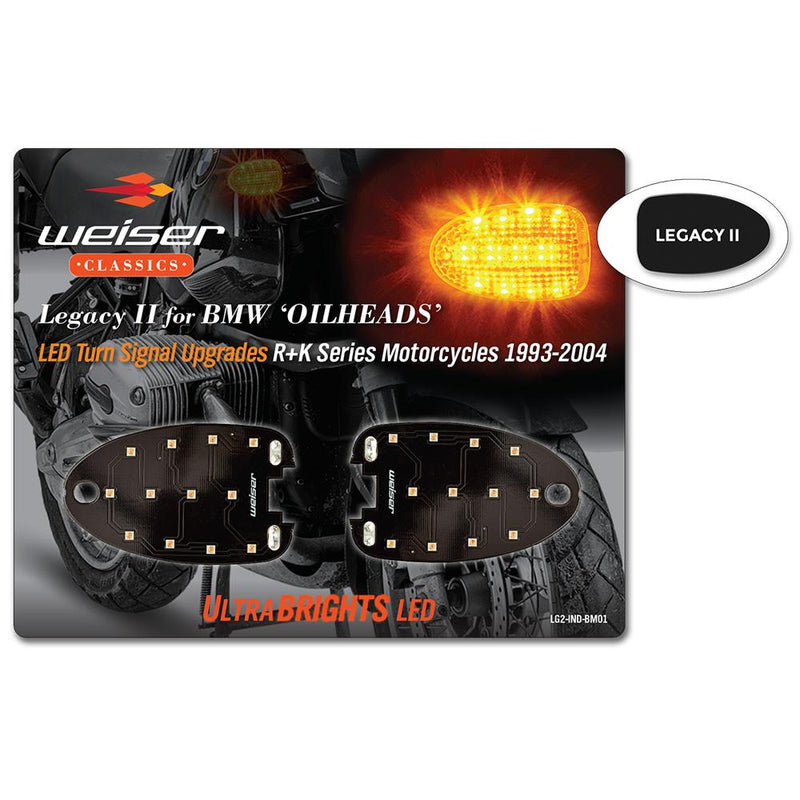 ULTRABRIGHTS LED Legacy II Turn Signal Upgrades for BMW R and K series motorcycles 1993-2004 (LG2-IND-BM01) Image 1