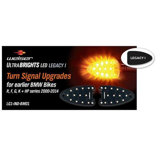 ULTRABRIGHTS LED Legacy I Turn Signal Upgrades for earlier BMW motorcycles 2000-2014 (LG1-IND-BM01) Image 1