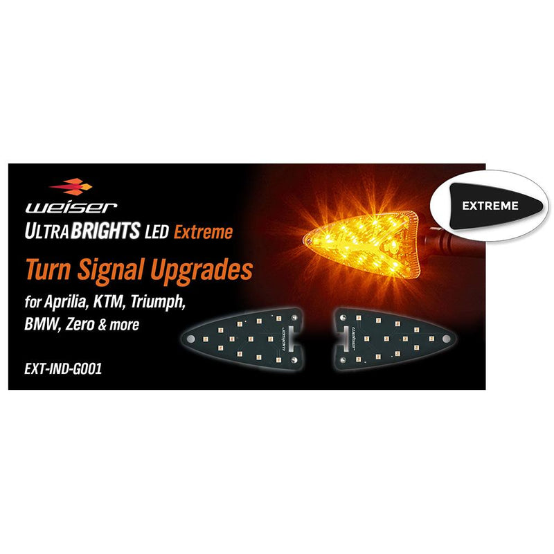ULTRABRIGHTS LED Extreme Turn Signal Upgrades for newer Aprilia, KTM, Triumph, BMW, Zero motorcycles (and more) (EXT-IND-GE01) Image 1