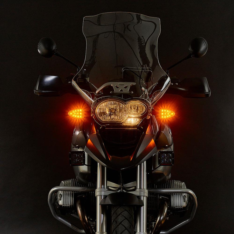 ULTRABRIGHTS LED Legacy I 2-in-1 Amber Running Light/Turn Signal Upgrades for earlier BMW motorcycles (R, F, G, K and HP series) 2000-2014 (LG1-DTC-AM01) Image 2