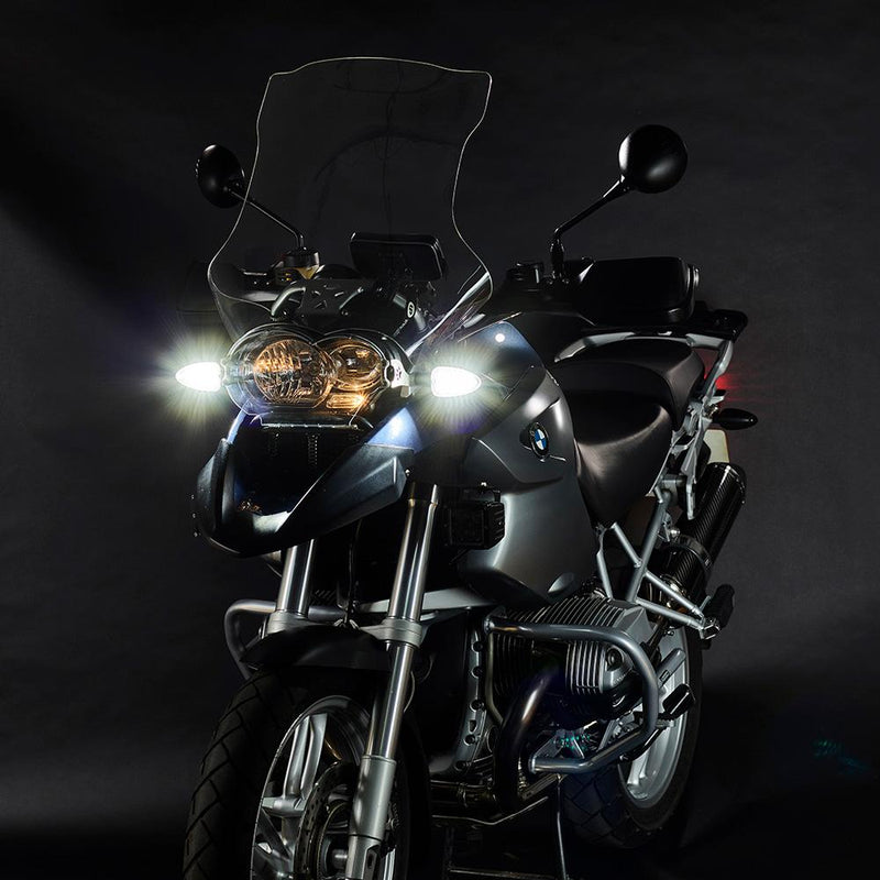 ULTRABRIGHTS LED Legacy I 2-in-1 Driving Light/Turn Signal Upgrades for earlier BMW motorcycles 2000-2014 (LG1-DTC-BM01) Image 5
