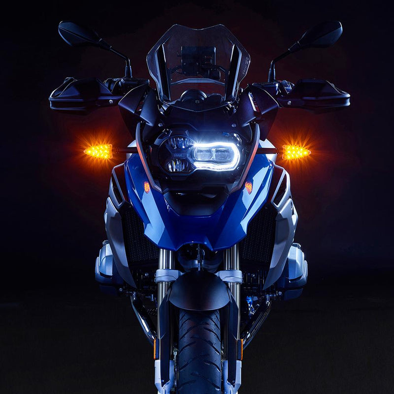 ULTRABRIGHTS LED 2-in-1 Driving Light/Turn Signal Upgrades for newer BMW motorcycles 2006-present (EXT-DTC-BM01) Image 5
