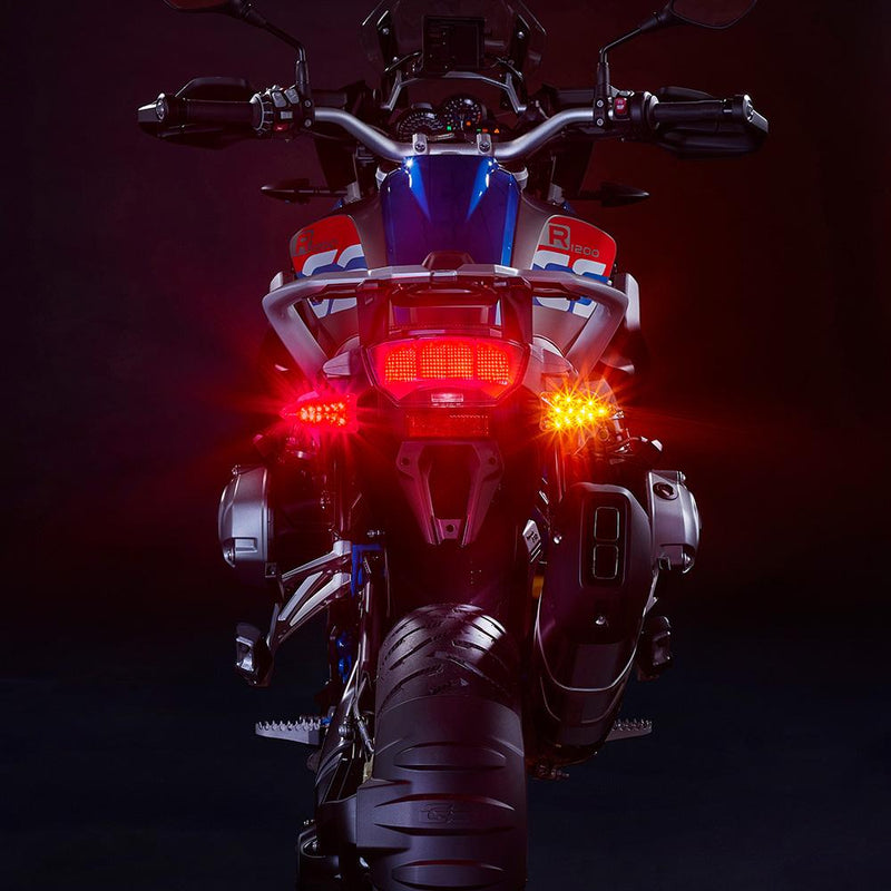 ULTRABRIGHTS LED EXTREME 2-in-1 Driving Light/Turn Signal and Brake Light/Turn Signal Upgrades. Complete front and rear kit for newer Aprilia, KTM, Triumph, BMW, Zero motorcycles and more (EXT-DBT-GE01-CMB) Image 7