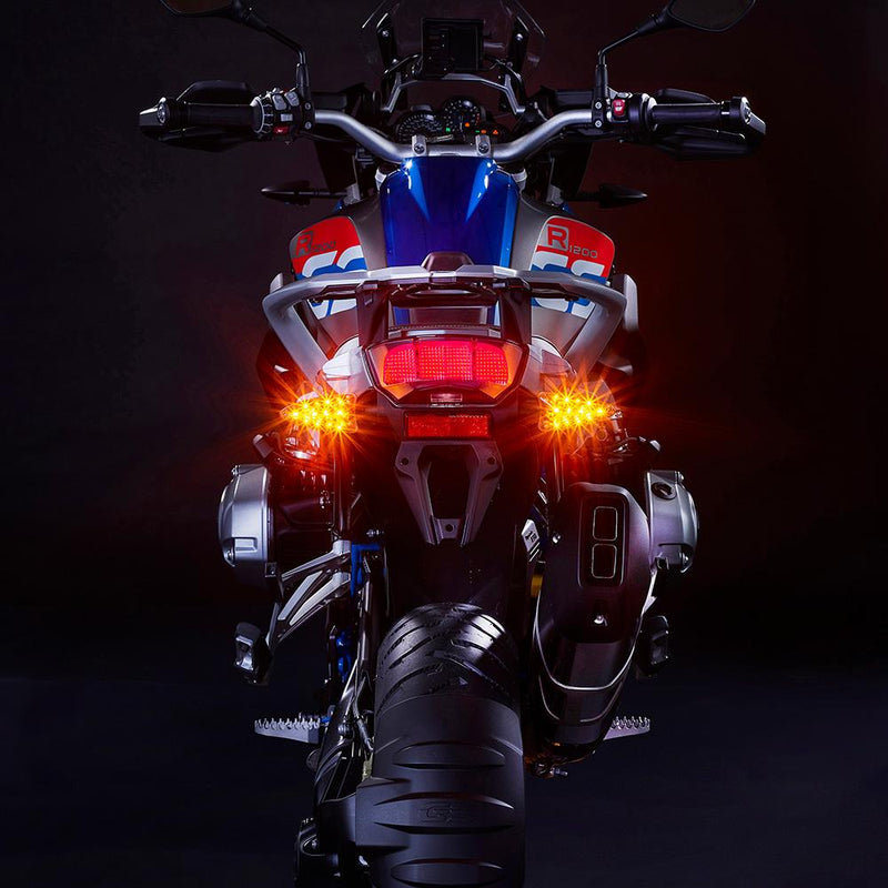 ULTRABRIGHTS LED EXTREME 2-in-1 Driving Light/Turn Signal and Brake Light/Turn Signal Upgrades. Complete front and rear kit for newer Aprilia, KTM, Triumph, BMW, Zero motorcycles and more (EXT-DBT-GE01-CMB) Image 8