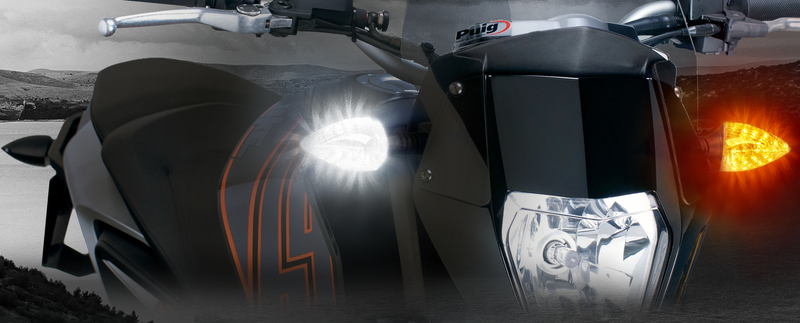 KTM-DTC-M001 2-in-1 LED WHITE Driving Light/AMBER Turn Signal upgrades for KTM* from 2007.