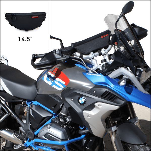 "14.5"" ADVENTURE Handlebar Bags 14.5"" x 6"" x 2""  - Shown On A BMW R1200 GS 2014-2021"