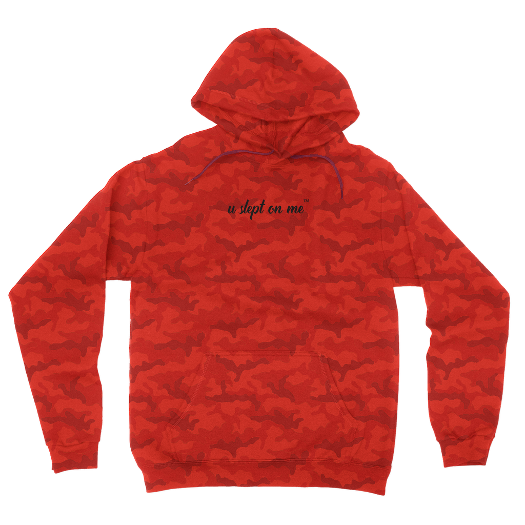 U Slept On Me Logo Camouflage Hoodie- 2 colors