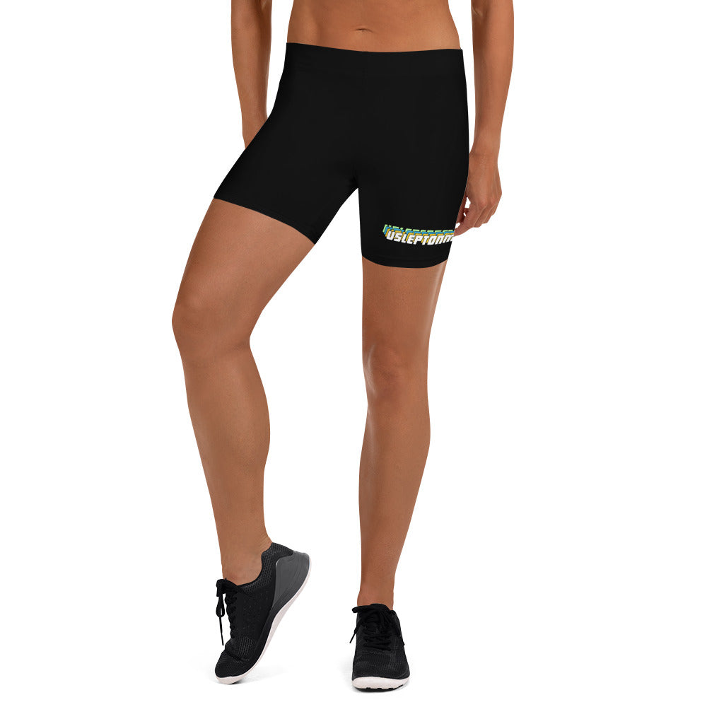 U Slept On Me 3D Biker Shorts - green