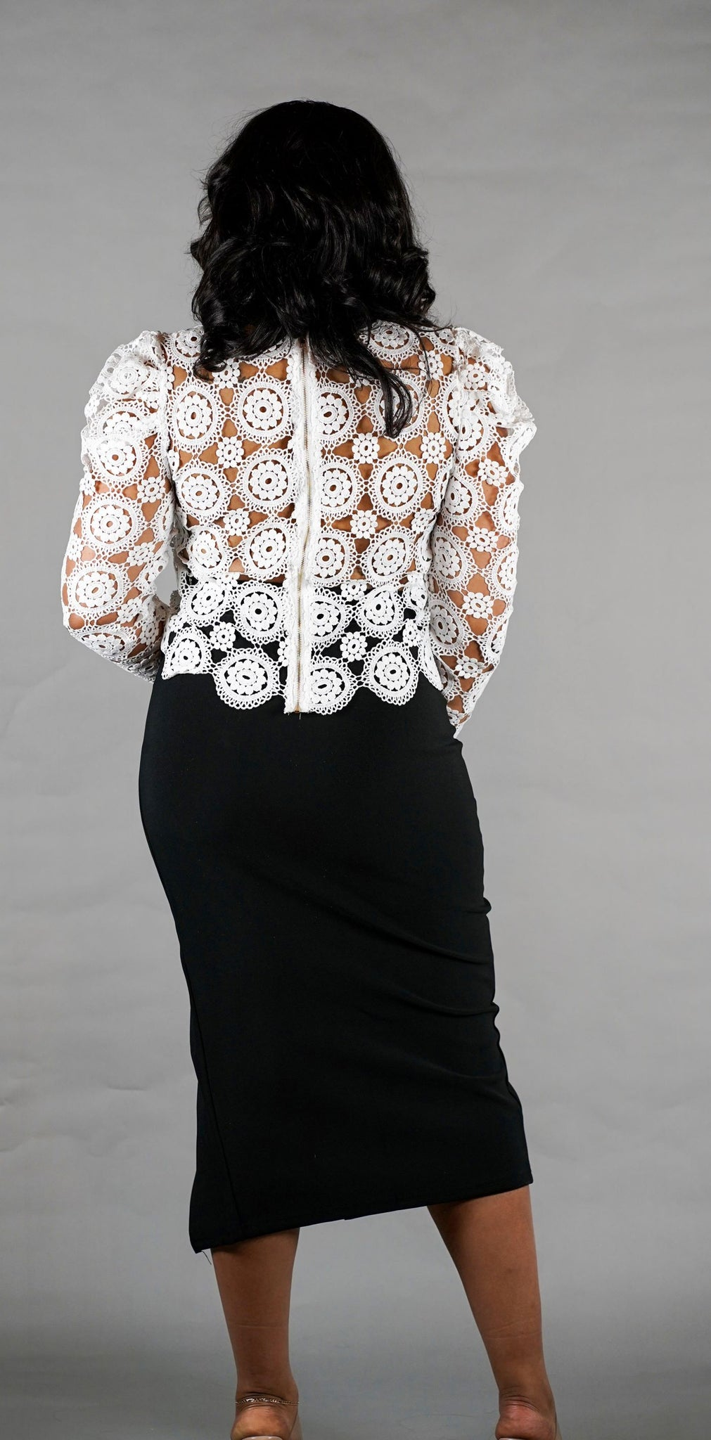 Pompeer Pencil Skirt (Available in Plus- Up to 3X)