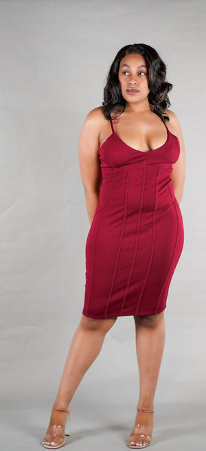 Wine Down Dress