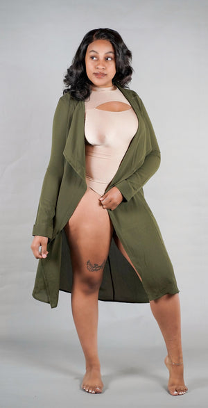 Green Contemporary Duster