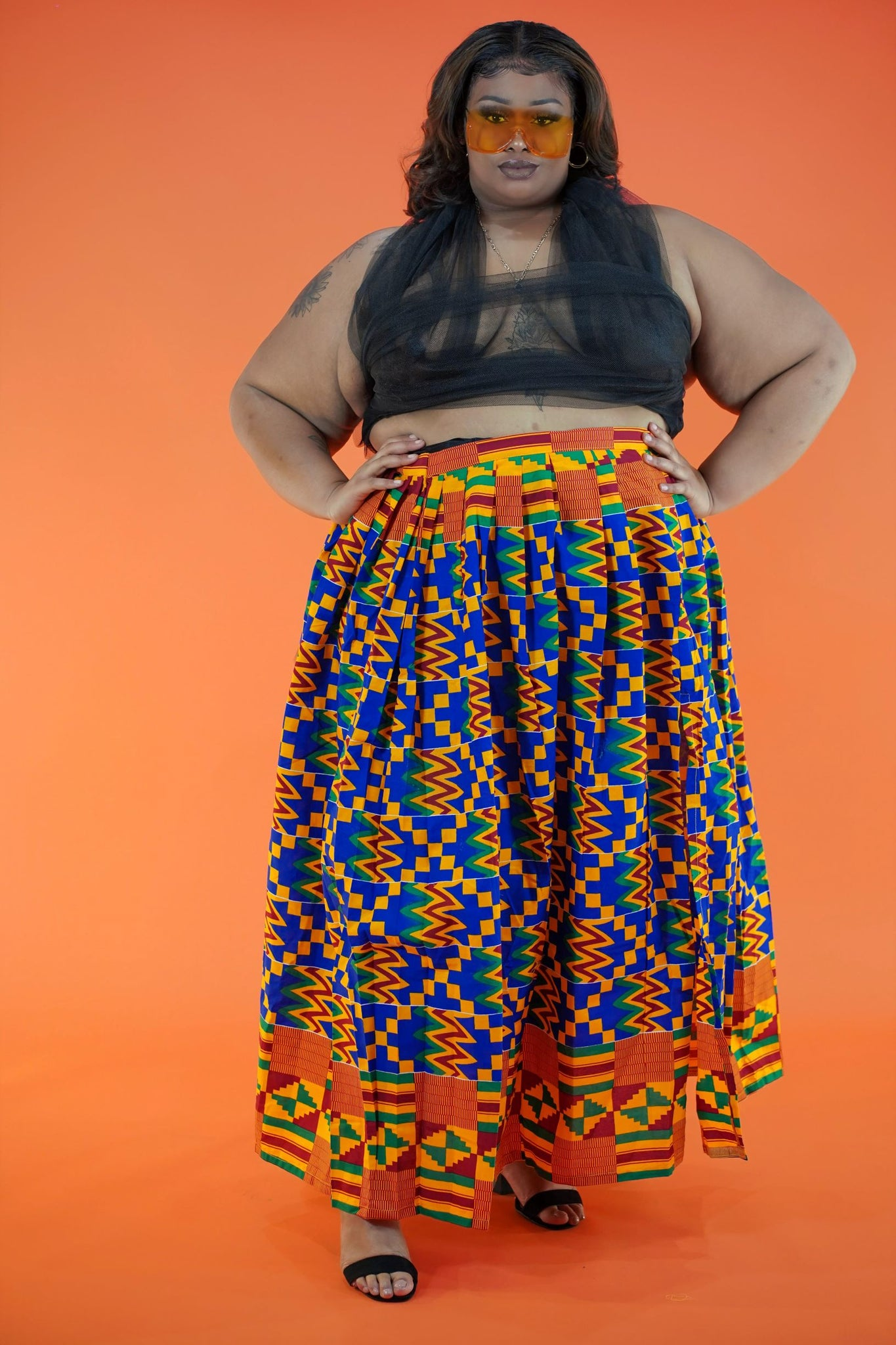 Sewa Split Skirt - Okun -Strength- Collection (Yellow, Red, & Blue)