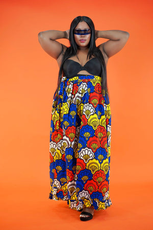 Mayowa Wrap Skirt - Okun -Strength- Collection (Yellow, Blue & Red)