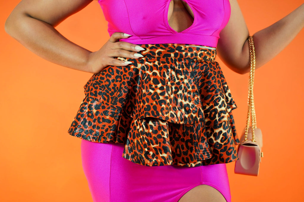 Kikelomo Peplum - Okun -Strength- Collection (Cheetah)