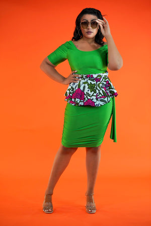 Kikelomo Peplum - Okun -Strength- Collection (Green, White, Pink)