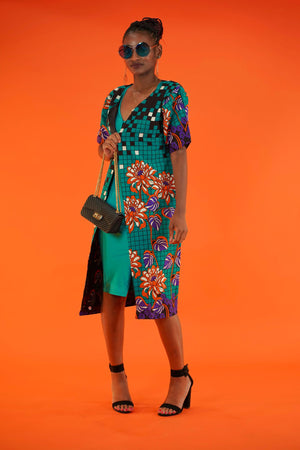 Adesola (Sola) Jacket   - Okun -Strength- Collection (Teal & Orange)