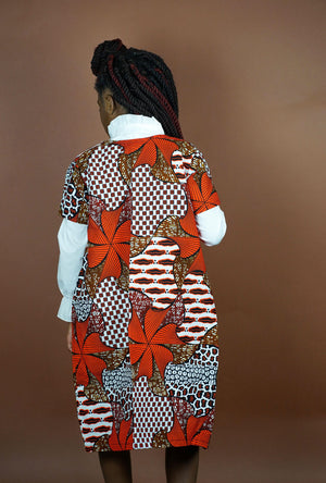 Adesola (Sola) Kids Jacket   - Okun -Strength- Collection (Brown & Orange)