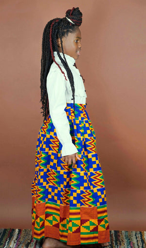 Sewa Split Skirt (Kids) - Okun -Strength- Collection (Yellow, Red, & Blue)