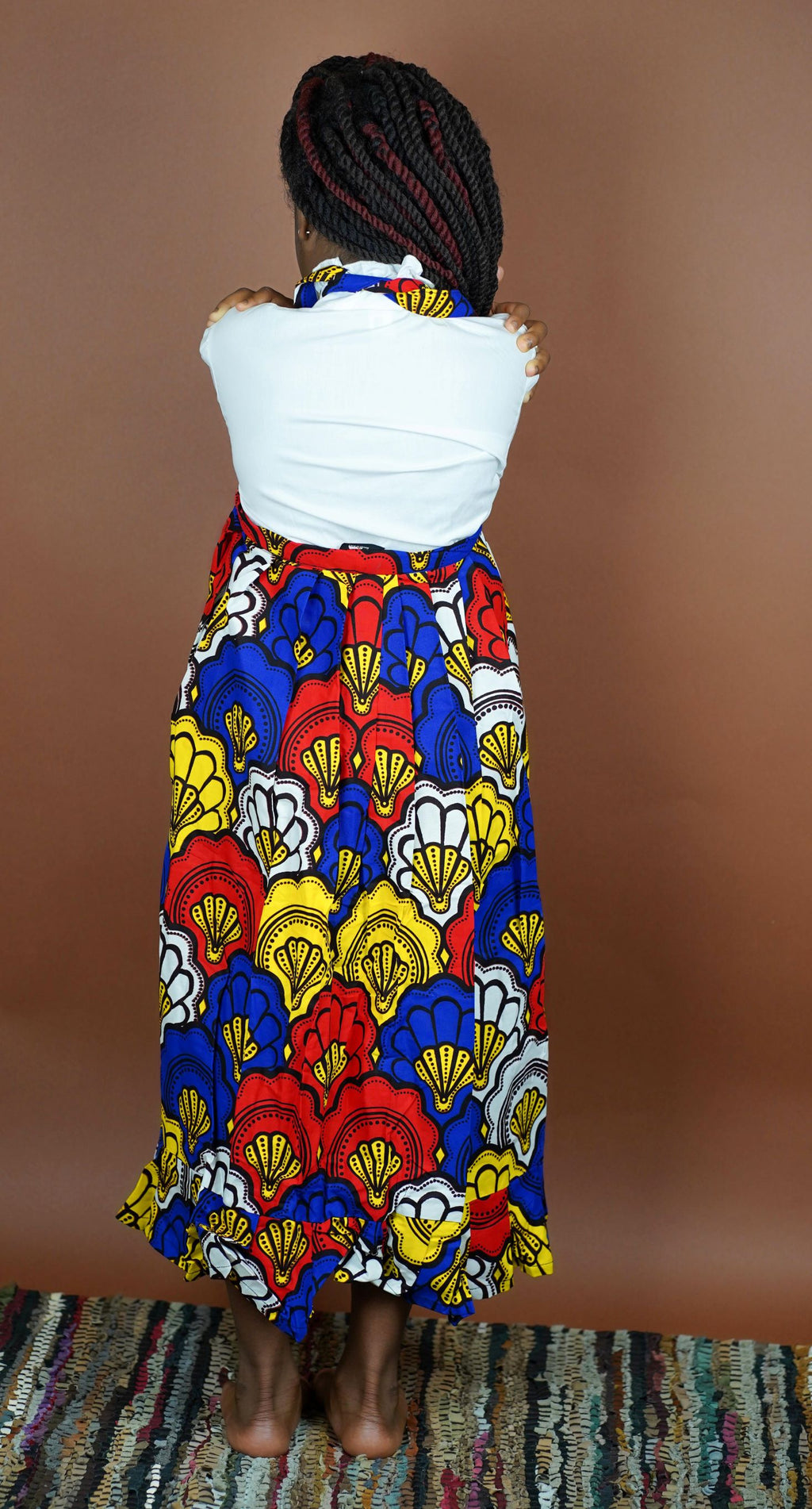 Mayowa Wrap Skirt (Kids) - Okun -Strength- Collection (Yellow, Blue & Red)